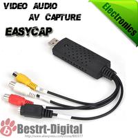 EasyCAP USB 2.0 TV DVD VHS Video Audio AV Capture for windows WIN 7 32 64 Bit