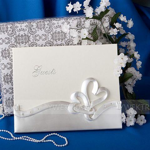 Free Shipping Interlocking Hearts designs resin wedding guest book(China (Mainland))