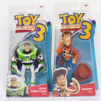 """8pcs/lot Free Shipping 6""""15cm Toy Story Buzz light year Woody PVC Doll Figure Toy With Box"""