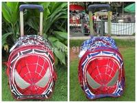 Spider-Man Trolley school bag male primary school students travel schoolbag detachable female child school bag on wheels