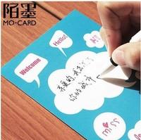 DIY Scratch cards postcards Scraped Dialog Postcard Christmas/Birthday Greeting Massage Cards 12pcs/lot Free Shipping