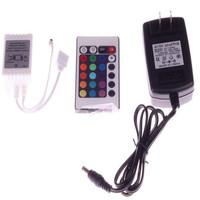 New 12V 24 Keys IR Remote Controller+12V 2A Power Adaptor