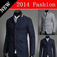 2014 NEW Winter Fashion Slim fit Casual Blazers terno masculino Korean Style Men's Clothes Long Sleeve Cardigans Men Blazer1108K