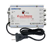4 Way CATV VCR TV Antenna Signal Amplifier Booster Splitter 30dB 45-880MHz FREQ