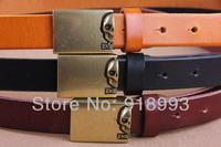 Ms. Fine European and American retro skull belt buckle leather Korean version of casual fashion wild