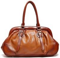 Top grade genuine leather women's handbags retro style accessories