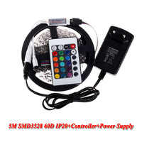 12V 2A Power Adapter Supply  non Waterproof Red Green Blue Yellow White 5M 3528 Led strip