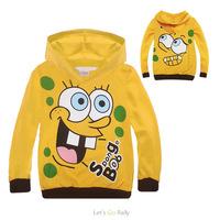 New Arrival Boys spongebob Sweatshirts Character Fashion Regular Full Broadcloth Hoodies &amp  Sweatshirts Roupa Infantil