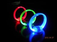 5 pcs/lot Novelty LED light -emitting bracelet  voice Glow Bangle for Party Adjustable Length Red/Blue/Green available
