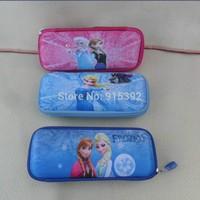 Free shipping Snow and ice Frozen series EVA pencil box Ice princess student pencil-box