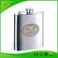 Perfect Men's Gift 6OZ Stainless Steel Hip Flask Engraved Portable Pocket Flagon Gift Set Whisky Wine Bottle