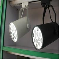 Free Shipping 12w LED Track Light 1080LM AC90-265V White/Black Ultra Bright Store Decorate LED Rail Light