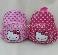 Hello Kitty wave point PU mini backpack, new kindergarten school bag