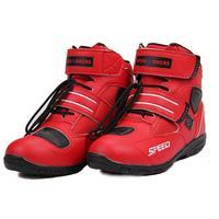Motorcycle Boots Motor Boots MEN Pro biker SPEED Moto Racing Motocross Motorbike Shoes A005 RED size 38/39/40/41/42/43/44/45