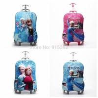 2014 Hot EVA 3D Frozen Bag Wheeled School Bags 16'' Frozen Backpack Trolley Luggage Frozen Backpack