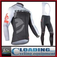 2015 new CAS bike team jersey thermal bib pants cycling clothes long sleeve winter clothing bike racing fleece sportswear jacket