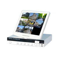 NEWEST 8CH HD 960H DVR 10inch LCD Screen 4ch Audio All in One DVR Wifi 3G Mobile Phone Remote View for CCTV Camera DVR AS-ADVR04