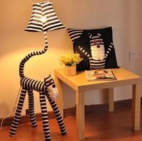 Free shippingCute animal cartoon creative bedroom floor lamp lights the living room children's room rustic fabric lamp