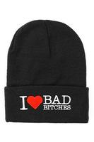 Beanies I love bad bitches bboy Fashion Winter hat Knitted Cap brand women gorro Spoof Skullies men Hat Black caps knitting hats