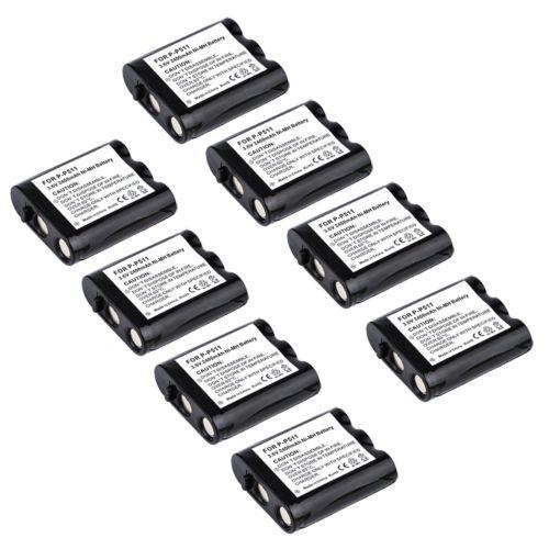 8x 2400mAh Cordless Phone Battery for GE 26400 86400 Panasonic P-P511 HHR-P402(China (Mainland))