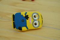 For Samsung Galaxy Pocket S5300 Cute Cartoon Soft Silicon Rubber Back Cover Despicable Me Case FA014