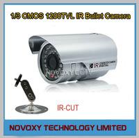 "Free shipping 1200TVL 1/3"" CMOS 36PCS LED Night Vision 25M IR CUT ICR Outdoor Waterproof Weatherproof CCTV IR Bullet Camera"
