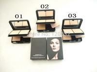 48 pcs/lot mc brand makeup powder plus foundation studio fix +powder puffs 30g / 3 different color free shipping