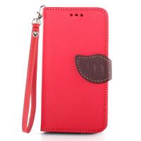 New Luxury Flip Case for HTC One mini 2 M8 mini Leather Lanyard Wallet Case Cover Handbag Fundas Capa Para m8 mini Leaf Cases