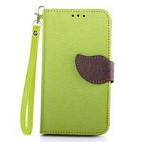 2015 New Leaf Handbag Wallet Case for LG Optimus G2 D802 D801 Flip Leather Case Cover Fundas Capa Para for LG G2 Card Slot Cases
