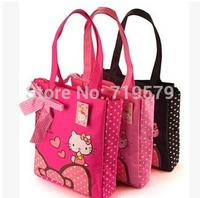6PCS/LOT 35.5X29 X9cm women shoulder bag For hello kitty shoulder bags Canvas waterproof shopping bag Gilrs handbag Cute Tote