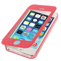 Ultra-thin Touch Screen Leather Case for iPhone 5 5S smooth celular caso geval