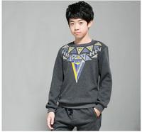 Autumn Children T shirts Boys Sports Clothes Long Sleeve T- Shirt Fleece Printed Casual Kids Cotton Tee Roupas Meninos F-234X015
