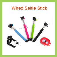 100 sets Z07-5 plus Universal Audio Cable Wired Selfie Stick Extendable Handheld Tripod Monopod With Clip Holder For IOS Samsung