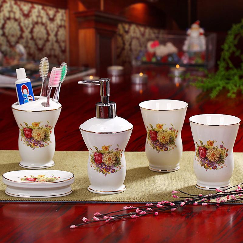 Fashion fashion ceramic bathroom set shukoubei dental kit bathroom supplies wedding gift(China (Mainland))