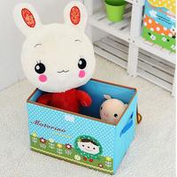 Free shipping Cute Modern Young Girl Home Fashion Storage Box Oxford Fabric Cartoon Storage Box Finishing Box EJ675917
