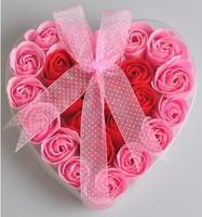 Romantic Love Rose Soap Flower (24pcs) Creative birthday / Valentine's Day gift free shipping