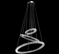 modern lamp single ring LED Double round crystal chandelier aslo for wholesale Galaxy LED 3 ring