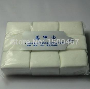 Free Shippin 1800 Pcs Cotton Lint Pads Paper Nail Tools Nail Polish Remover Wipes Nail Art Tips Manicure for sale(China (Mainland))