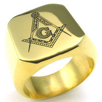 Fashion New Silver Men's Rings Jewelry Freemasonry Free Mason Masonic Stainless Steel Finger Ring for men