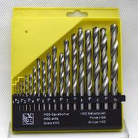 19pcs/lot HSS-TiN HSS white twist drill bit set DIN 338, Hole Boring Bits, Drilling tool kit 1-10mm