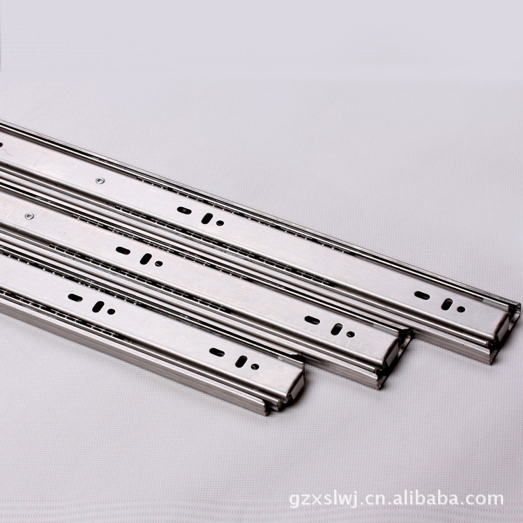 Stainless steel cabinets Furniture Outlet 3808 three ball bearing slide rails stainless steel drawer slides(China (Mainland))