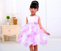 The new children's cute and pretty princess tutu dress elegant dinner party dress free shipping