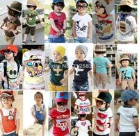 100% cotton 2015 summer children t-shirt child tops tees kids clothes boys blouse girls short sleeve t shirt  9 models albb