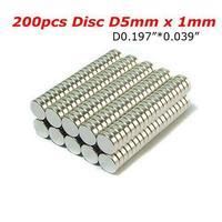 200Pcs/Lot Bulk Small Round NdFeB Neodymium Disc Magnets Dia 5mm x 1mm N35 Super Powerful Strong Rare Earth NdFeB Magnet