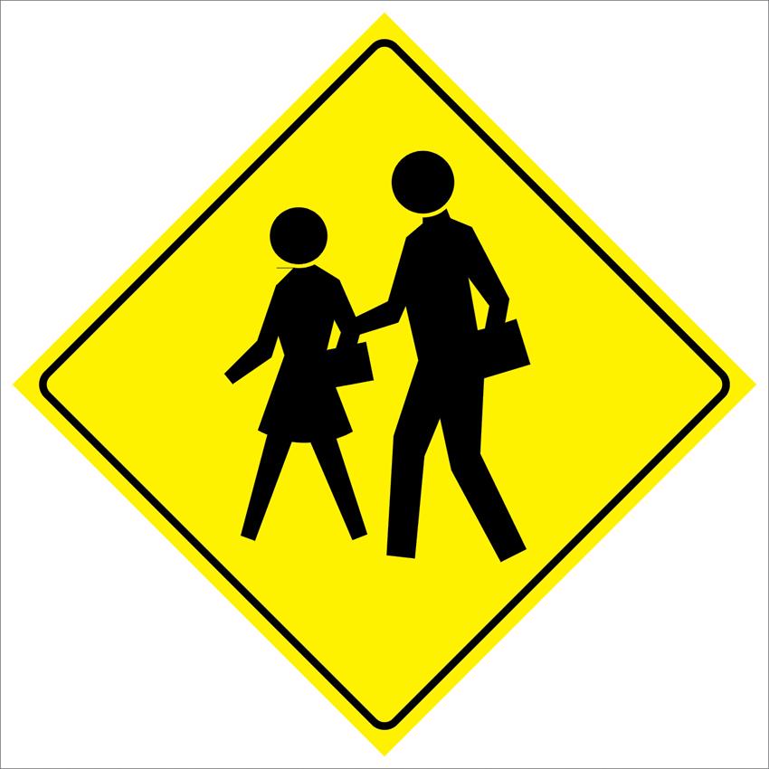 Pas194 школы пересечения дорожного движения забавный безопасности предупреждение металлический знак 12