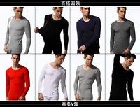 HOT SALE men thermal underwear doublet + men's long johns men Autumn winter underwear low round collar