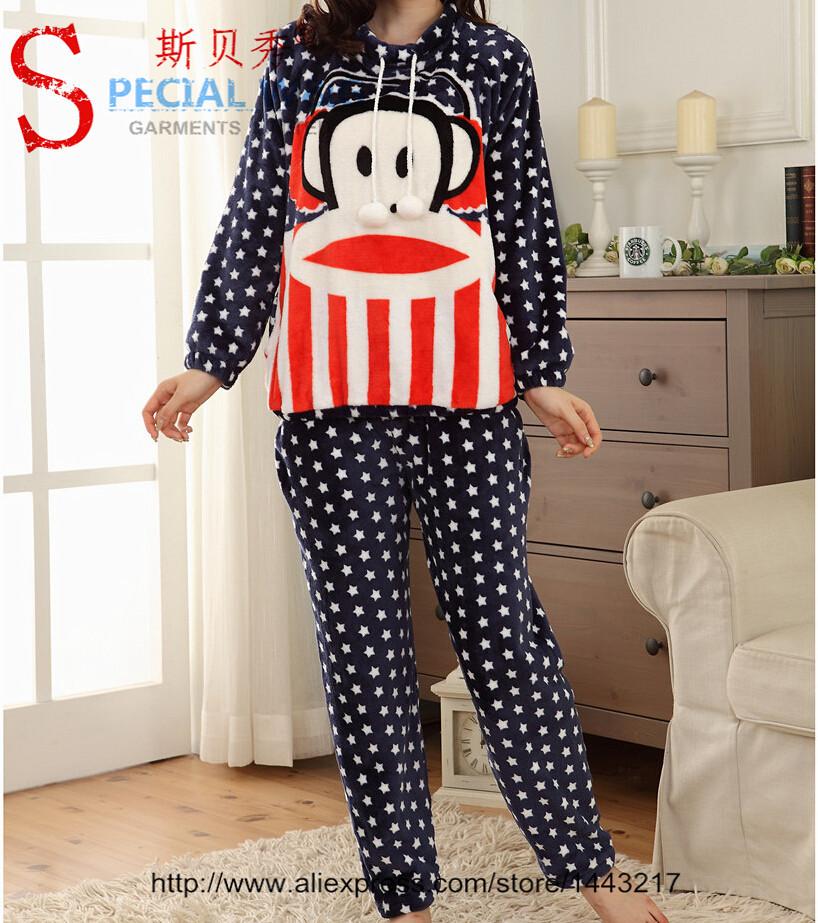 2 Pieces ! Free Shipping Pajama Sets Winter Pajamas Pijama Women Sexy Lingerie Sleepwear Robe Nightgown Clothing Set Wholesale(China (Mainland))