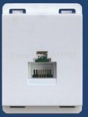 118 series LAN socket modular(white or gray color)(China (Mainland))