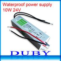 100piece/lot 24V 0.42A 10W Waterproof LED Driver Power Supply Outdoor AC90V-240V Input,24V Output Free Fedex