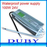 20piece/lot 24V 4.16A  100W Waterproof LED Driver Power Supply Outdoor AC90V-250V Input,24V Output Free Fedex